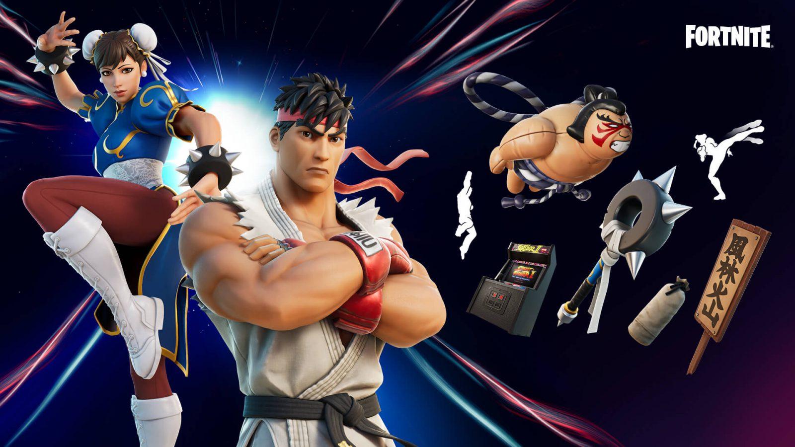 Рю и Чан-Ли из Street Fighter прибывают в Fortnite