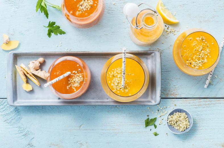 Пряный морковный смузи. Как сделать, ингредиенты, рецепт, совет