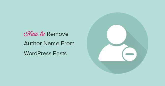 WordPress как убрать автора статьи?